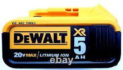 Dewalt 20V DCF899 Brushless 1/2 Impact Wrench, (2) DCB205 5.0 Batteries, Charger