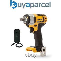 Dewalt DCF880N 18V XR Li-Ion 1/2 Compact Impact Wrench Bare Tool + 21mm Socke