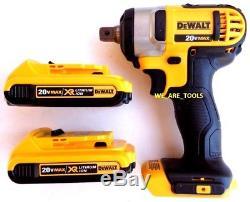 Dewalt DCF880 20V Cordless 1/2 Impact Wrench, (2) DCB203 Battery Detent Pin MAX