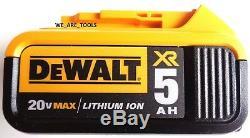 Dewalt DCF880 20V Cordless 1/2 Impact Wrench, (2) DCB205 5.0 AH Battery, Charger