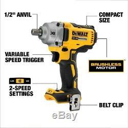 Dewalt DCF894P2 18v XR High Torque Brushless Compact Impact Wrench 1/2 2x 5ah