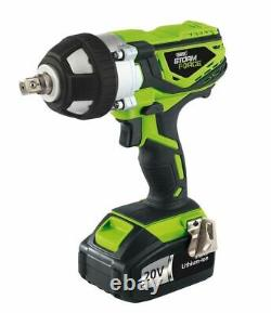 Draper 01031 Storm Force 20V Cordless 1/2 Drive Impact Wrench Gun With Sockets
