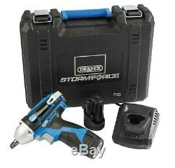 Draper 10.8v Lithium 3/8 Cordless Impact Wrench 2 Batteries & Charger 78584 New