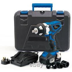Draper 82983 Storm Force 20V 1/2 Drive Cordless Impact Wrench Gun x2 Li-ion Bat