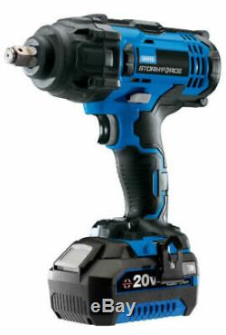 Draper Stormforce 20 Volt Impact Wrench 1 x 4ah battery & Charger 400nm 43785