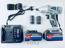 ETOP Cordless Impact Wrench Tools 48v Li-ion 4000 mAh Gun Nut Drill 24 1/2 Tyre