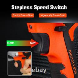 Electric Cordless Impact Wrench Brushless 1/2'' Max 800Nm with 13000mAh Battery