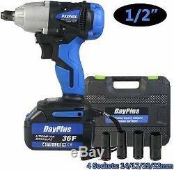 Electric Impact Wrench 1/2 Drive Lithium Ion Cordless Rattle Gun DCF880 DCF880B