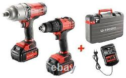 FACOM CL3. CP18SPB HIGH POWER CORDLESS 18v (1085Nm) IMPACT WRENCH /DRILL DUO PACK