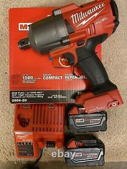 Genuine Milwaukee 2864-22 M18 3/4 One Key impact With 2 5.0 Batts And Charger