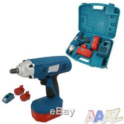 Heavy Duty 24v 1/2 Drive Cordless Impact Wrench Ratchet & 2 Batteries