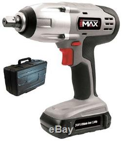 Hilka Lithium LI Ion 1/2 24v Cordless Impact Wrench Ratchet & Battery In Case