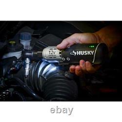 Husky Cordless Ratchet 3/8 in. Driver Torque Repair Tool 12 V Built-in Battery