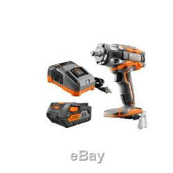 Impact Wrench Kit Charger Cordless Power Tool Lightweight Orange Lithium Ion New