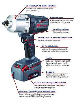 Ingersoll Rand 20V 3.0 Ah Cordless Lithium-Ion 1/2 in. High-Torque Impact Wrench