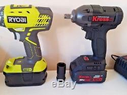 KRESS German brand Cordless 20v Impact Wrench / Driver Nut Gun 1/2 High Torque