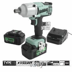 Kielder 1/2in Drive 18 Volt Brushless Impact Wrench 2 x 4.0Ah 700Nm KWT-012-51