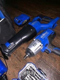 Kobalt 24V Max 1/2 Drive Brushless Cordless Impact Wrench 5024B-03 Saw Bits Lot