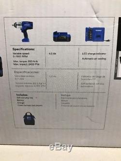 Kobalt 24V Max Impact Wrench Cordless Brushless KIW-1524A-03 (New)