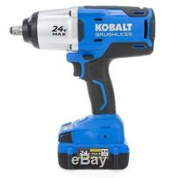 Kobalt 24-Volt 1/2-in Drive Variable Cordless Impact Wrench Kit Battery Charger