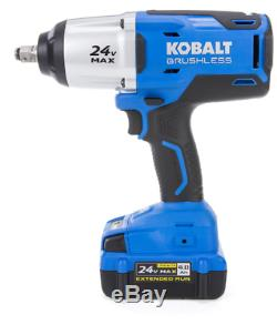 Kobalt 24 Volt Lithium Ion Battery 1/2-in Drive Cordless Electric Impact Wrench