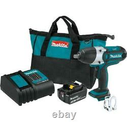 MAKITA XWT04S1 18V LXT Cordless 1/2 Sq. Drive Impact Wrench Kit Battery Charger