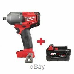 MILWAUKEE 2861-20, 48-11-1840 M18 18.0 1/2 Cordless Impact Wrench, Belt Clip