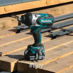 Makita 5 Ah 18V LXT Lithium Ion Brushless Cordless Impact Wrench Kit XWT07T