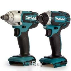 Makita DTD152Z 18V LXT Cordless Impact Driver With Makita DTW190Z Impact Wrench