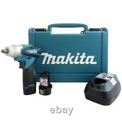 Makita Tw100dwe 10.8v Lxt Cordless Impact Wrench 3/8 2 Batteries Charger Case N