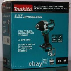 Makita XWT18Z 18V LXT Li-Ion Brushless Cordless 4-Speed 1/2 Impact Wrench New