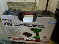 Matco 20V+ Cordless Infinium 3/8 Drive Impact Wrench Kit Green MCL2038HIKG 20 V