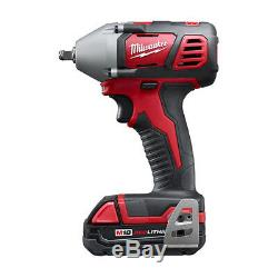 Milwaukee 18V 3/8 Impact Wrench Kit with Friction Ring 2658-22CT New