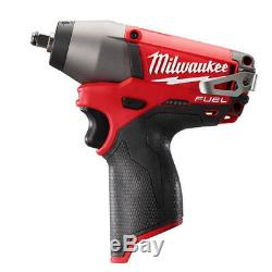Milwaukee 2454-20 M12 FUEL Cordless Impact Wrench Tool Only 3/8 in. NEW