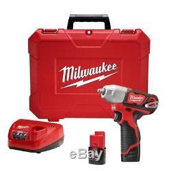 Milwaukee 2463-22 M12 3/8 12V Lithium-Ion Cordless Impact Wrench Kit