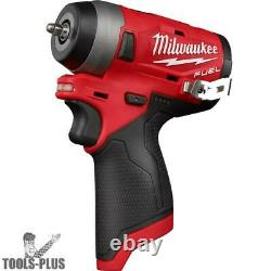 Milwaukee 2552-20 M12 FUEL Stubby Cordless 1/4 Impact Wrench (Tool Only) New