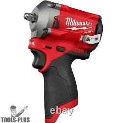 Milwaukee 2554-20 M12 FUEL Stubby Cordless 3/8 Impact Wrench (Tool Only) New