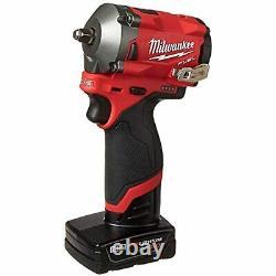 Milwaukee 2554-22 M12 FUEL Brushless Cordless Stubby 3/8 Impact Wrench Kit
