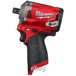 Milwaukee 2555P-20 M12 FUEL 12V 1/2-Inch Pin Impact Wrench Bare Tool