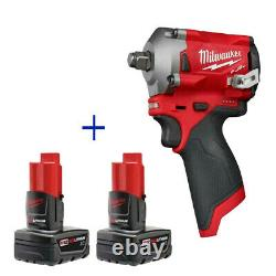 Milwaukee 2555-20 M12 FUEL Stubby Cordless 1/2 Impact Wrench 48-11-2412 Battery