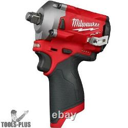 Milwaukee 2555-20 M12 FUEL Stubby Cordless 1/2 Impact Wrench (Tool Only) New