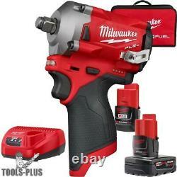 Milwaukee 2555-22 M12 FUEL 1/2 Stubby Impact Wrench Kit New