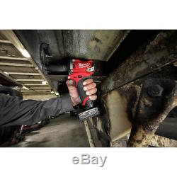 Milwaukee 2555-22 M12 FUEL Li-Ion 1/2 in. Stubby Impact Wrench Kit New