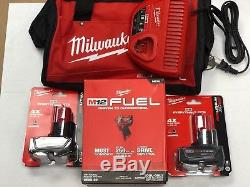 Milwaukee 2555-22 M12 FUEL Stubby Cordless 1/2 Drive Impact Wrench (2) 6.0 KIT