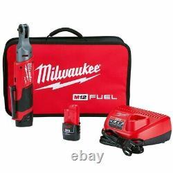 Milwaukee 2556-22 M12 FUEL 12V 1/4-Inch 40-Ft-Lbs. Li-Ion Cordless Ratchet Kit