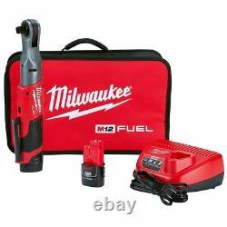 Milwaukee 2558-22 M12 FUEL 12V 1/2-Inch 60-Ft-Lbs. Li-Ion Cordless Ratchet Kit