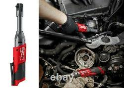 Milwaukee 2559-20 M12 FUEL 1/4 Extended Reach Ratchet Bare Tool Brushless New