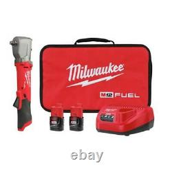 Milwaukee 2565-22 M12 FUEL 1/2 Cordless Brushless Right Angle Impact Wrench Kit