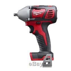 Milwaukee 2658-20 M18 Cordless Li-Ion 3/8 Impact Wrench with Friction Bare Tool