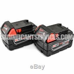 Milwaukee 2663-20 M18 Cordless 1/2 High Torque Impact Wrench 5.0 Ah Batteries